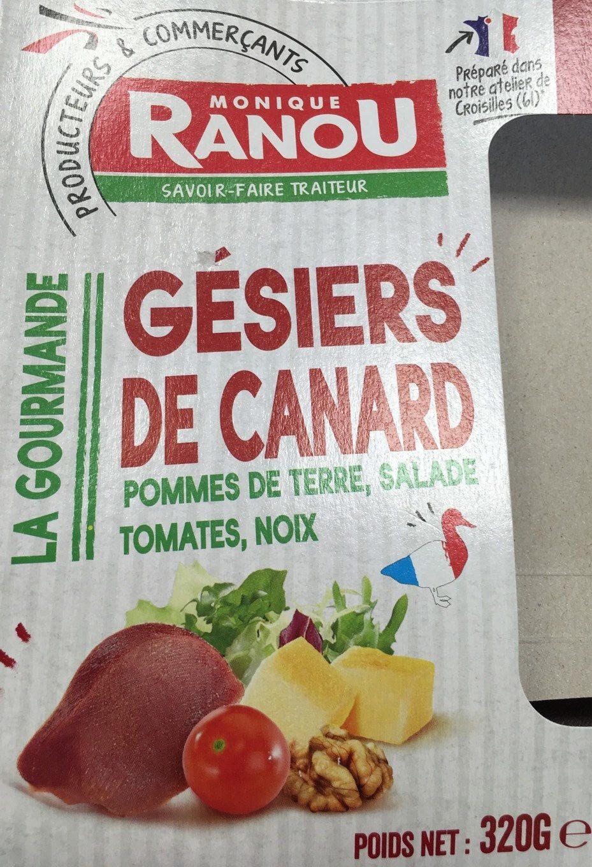 Salade Gesiers de canard - Produit - fr