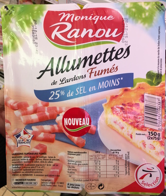 Allumettes de Lardons Fumés (25% de sel en moins) - Produit