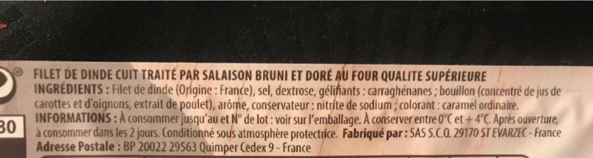 Filet de dinde - Ingrédients - fr