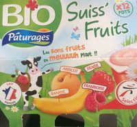 Suiss' Fruits (Abricot, Fraise, Banane, Framboise) - Product - fr