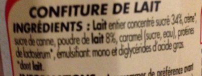 Confiture de lait - Ingredients
