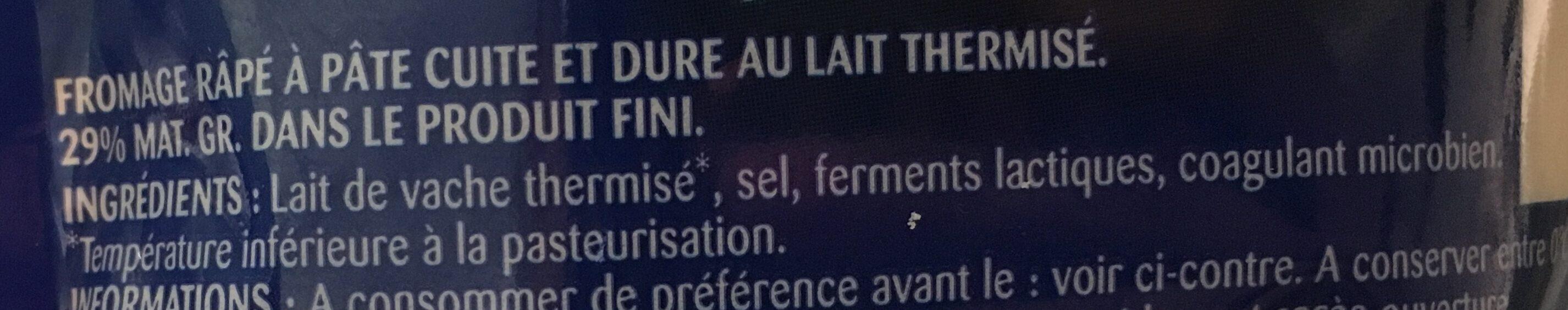 Formaggio grattugiato - Ingrédients - fr