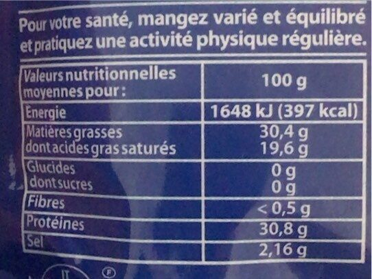 Formaggio grattugiato - Informations nutritionnelles - fr