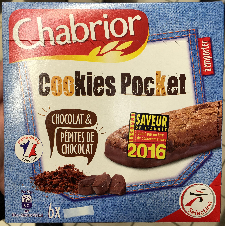 cookies pocket chocolat p pites de chocolat chabrior 130 g. Black Bedroom Furniture Sets. Home Design Ideas