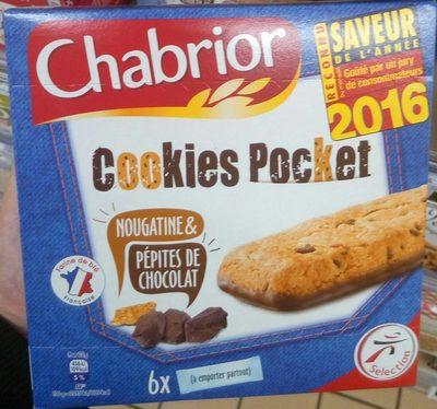Cookies Pocket nougatine & pépites de chocolat - Product - fr