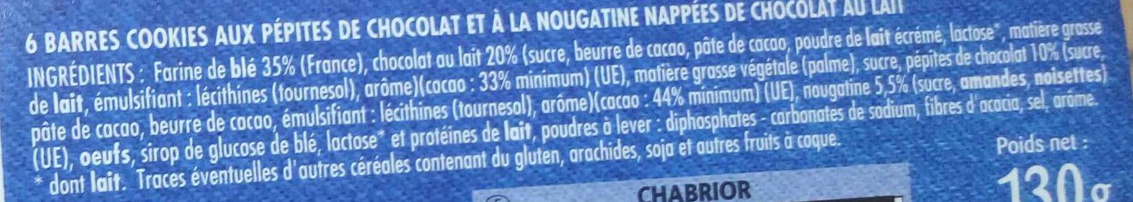 Cookies Pocket nougatine & pépites de chocolat - Ingredients - fr