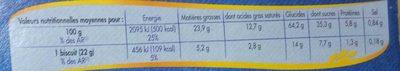 Cookies Pocket nougatine & pépites de chocolat - Nutrition facts - fr