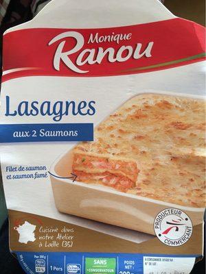 Monique Ranou Lasagnes au 2 saumon la barquette de 300 g - Produit - fr