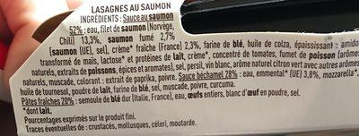Monique Ranou Lasagnes au 2 saumon la barquette de 300 g - Ingrédients
