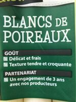 Blancs de Poireaux - Ingredients
