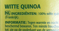 Quinoa Blond - Ingrediënten - nl