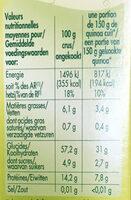 Quinoa Blond - Voedingswaarden - fr