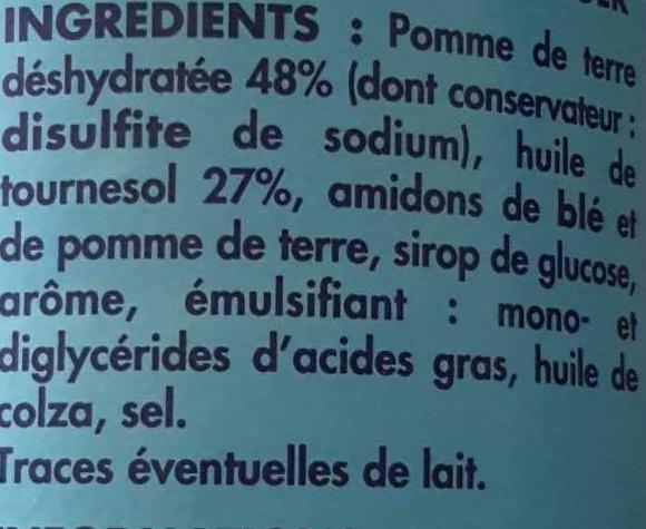 Tuiles saveur burger - Ingredients