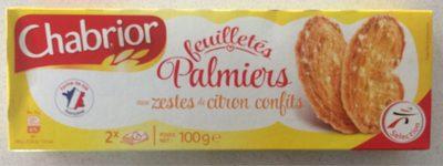 Palmiers feuilletés aux zestes de citron confits - Produit