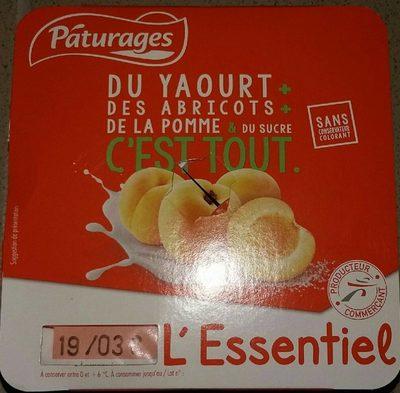 L'essentiel Du Yaourt + des abricots + de la pomme & du sucre c'est tout - Produit - fr