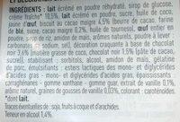 Douceur Vanille à l'extrait de Vanille & morceaux craquants au chocolat noir - Ingredientes