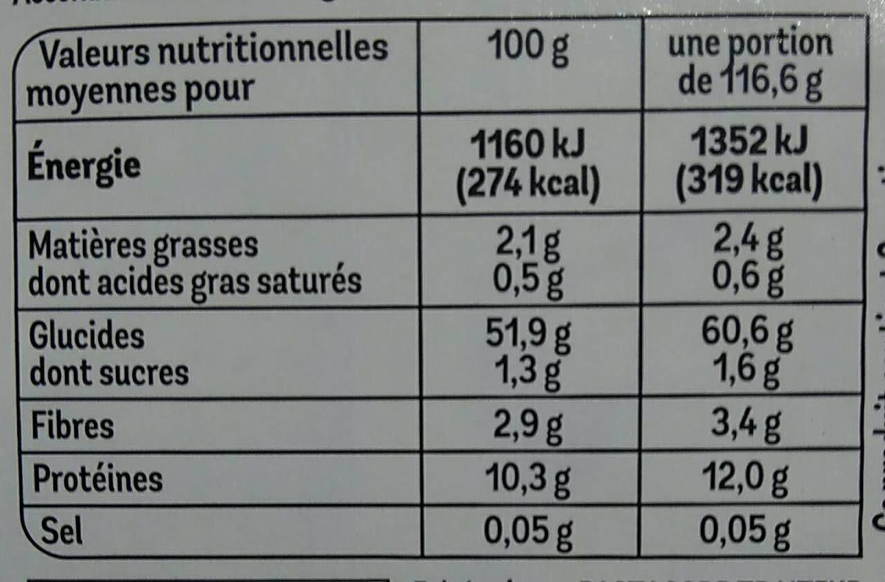 Tagliatelles aux œufs frais - Nutrition facts - fr