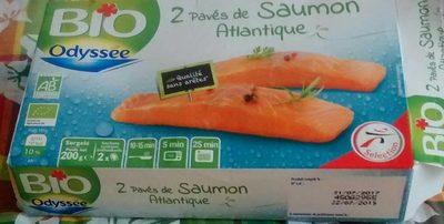 Odyssée Pavés de saumon Atlantique BIO 2 pavés 200 g - Produit - fr