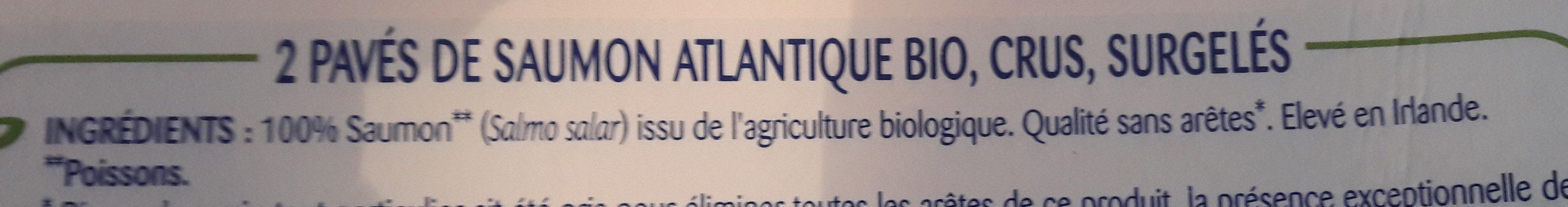 Odyssée Pavés de saumon Atlantique BIO 2 pavés 200 g - Ingrédients - fr