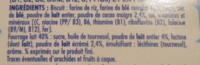 Céréales crica lait - Ingredients - fr