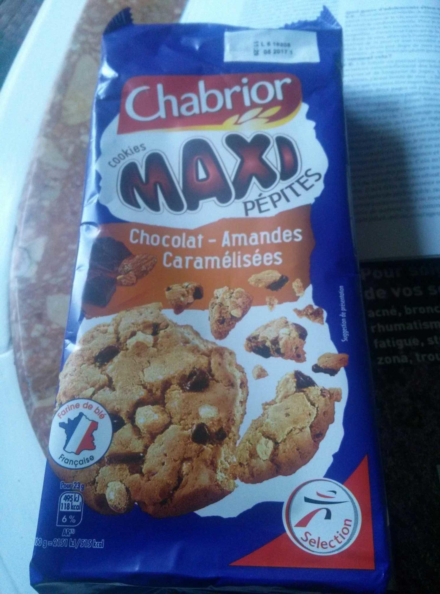 Cookies Maxi Pépites Chocolat - Amandes Caramélisées - Product