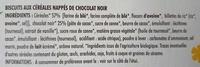 Biscuits aux céréales (25 % de Chocolat Noir) - Ingrédients - fr