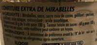 Confiture Mirabelles - Ingrediënten