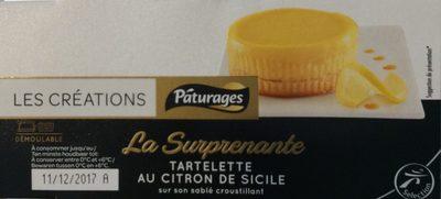 Les Créations La Surprenante tartelette au citron de Sicile les 2 pots de 80 g - Product