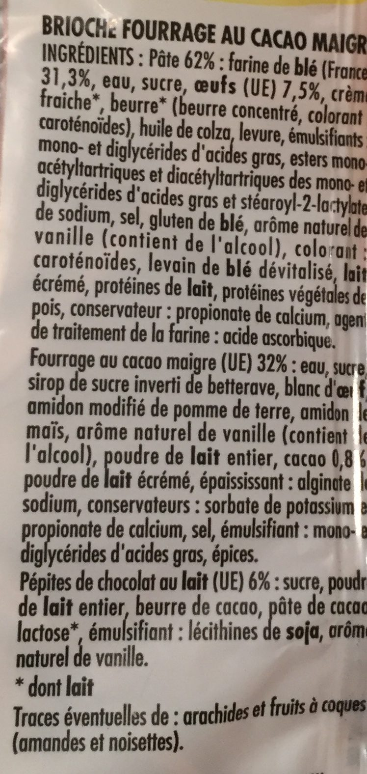 Tresse marbrée - Ingredients