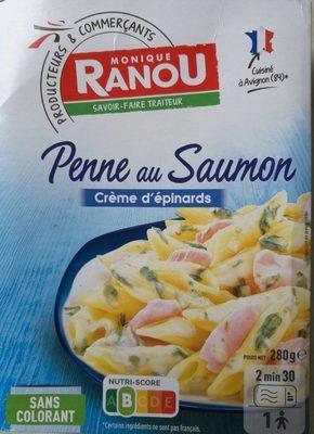 Penne au saumon et crème d'épinards - Produit - fr
