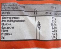 La Fournée Campanière - Label Rouge - Baguette à base de farine - Valori nutrizionali - fr