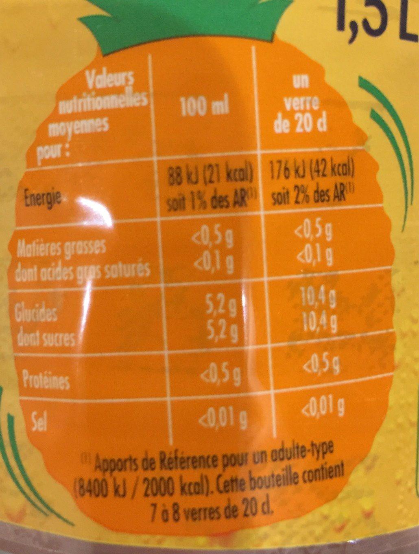 Chon Boisson à l'eau minérale naturelle saveur exotique la bouteille de 1,5 l - Informations nutritionnelles - fr