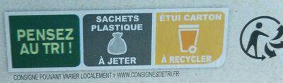 Sablés amande arôme naturel de citron bio - Instruction de recyclage et/ou informations d'emballage - fr