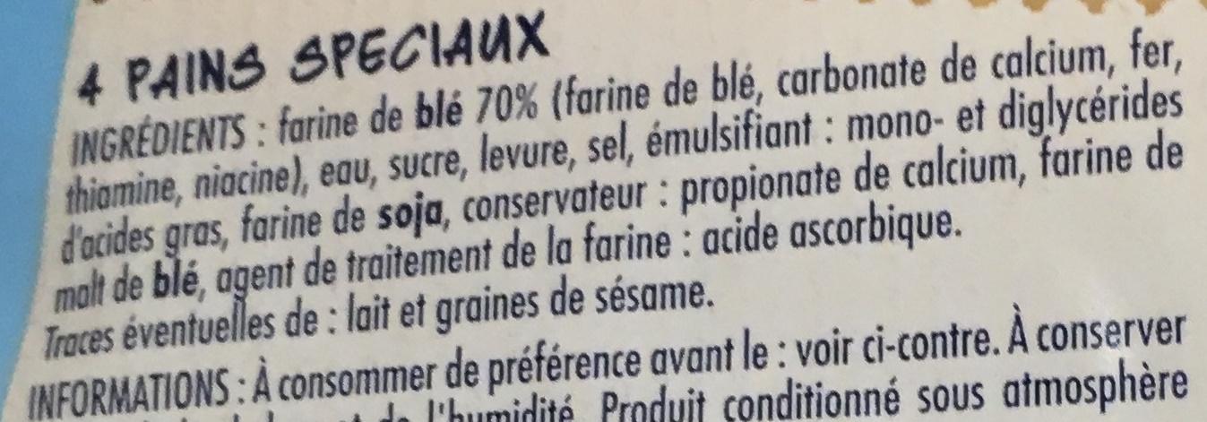 Bagel Nature - Ingrédients
