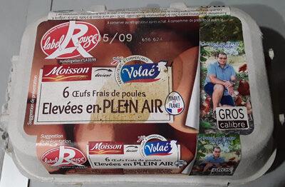 Moisson Œufs frais gros label rouge - Product
