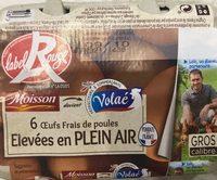 Moisson Œufs frais gros label rouge - Ingredients - fr