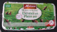 Moisson Œufs frais moyen de poules élevées en plein air Label Rouge 18 - Product