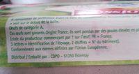 Moisson Œufs frais moyen de poules élevées en plein air Label Rouge 18 - Ingredients