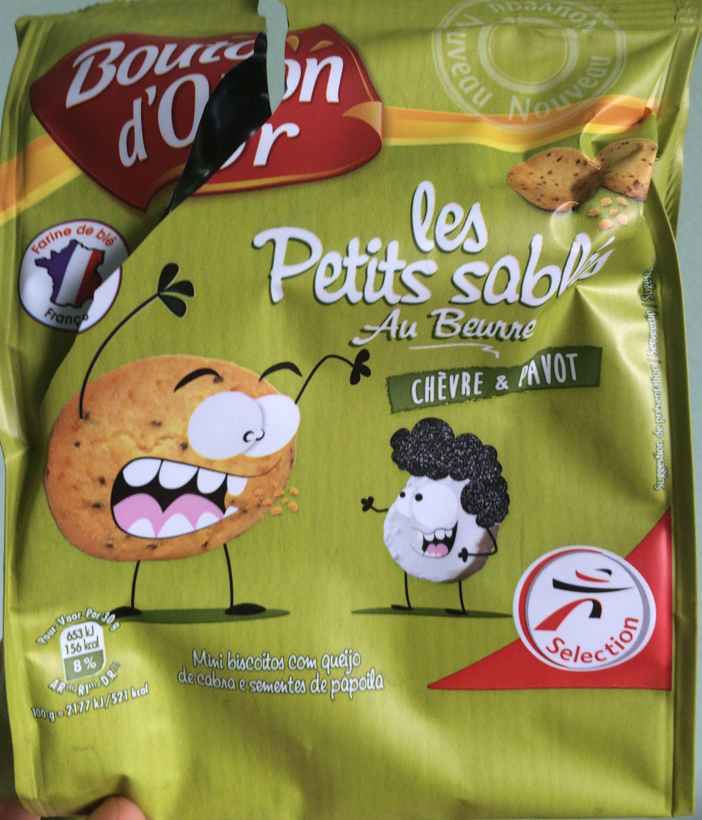 Les petits sablés au beurre Chèvre et Pavot - Product - fr