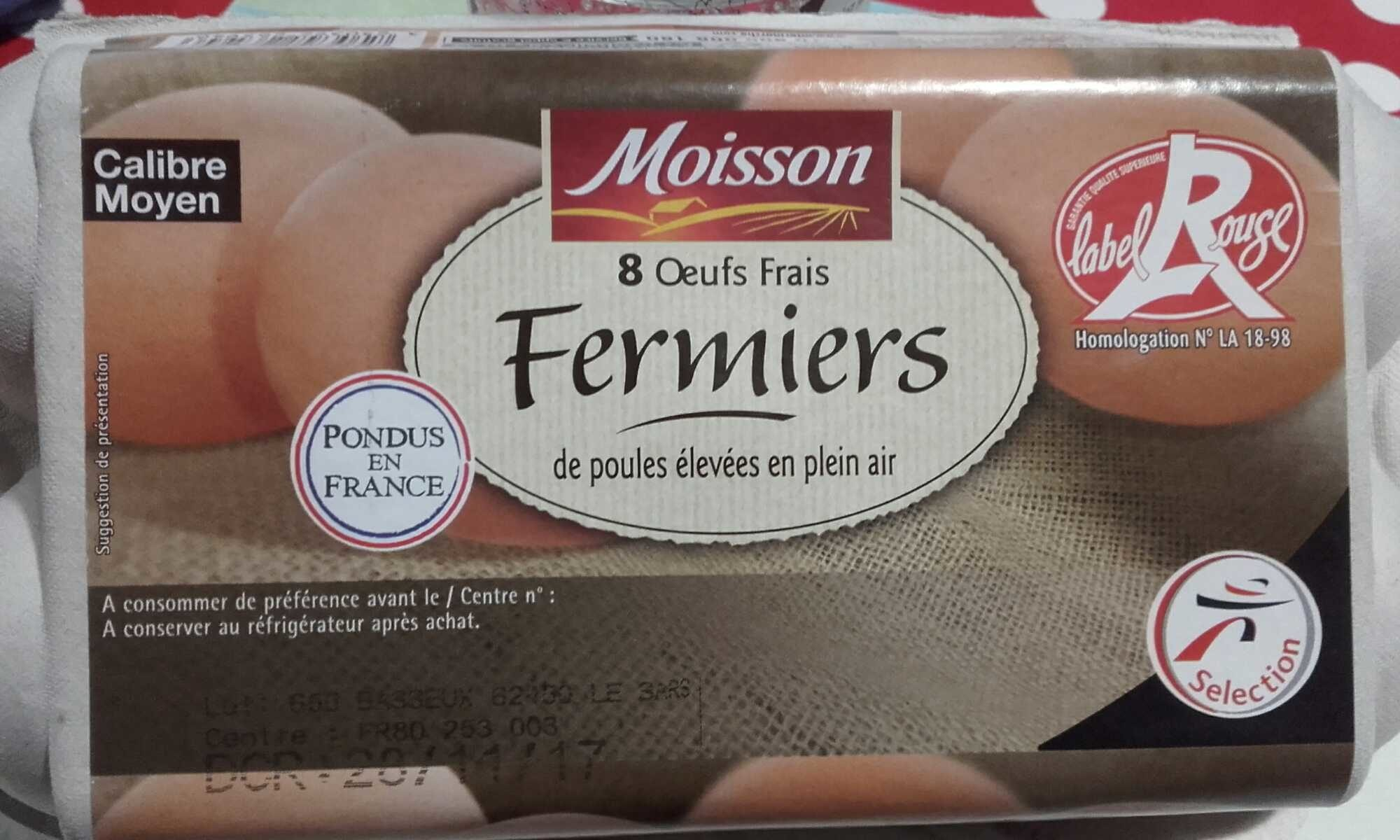 Œufs frais moyen fermiers label rouge - Product - fr