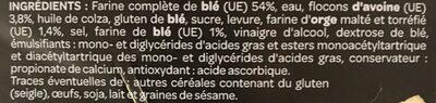 Pain complet aux flocons d'avoine - Ingrediënten - fr