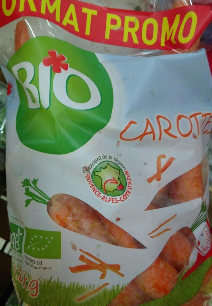 Carottes Bio sélection Intermarché - Ingrediënten