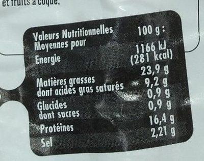 8 Saucisses fumées au bois de hêtre - Informations nutritionnelles