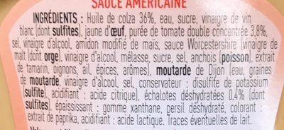 Sauce Américaine - Ingredients