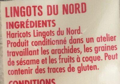 Haticots lingots du nord - Ingrédients