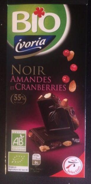 Chocolat noir amandes et cranberries - Product