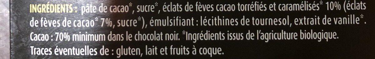 Chocolat noir aux éclats de fèves - Ingrediënten - fr