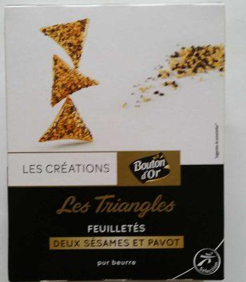 Les Triangles Feuilletés Deux sésames et Pavot - Produit - fr