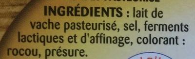 Brique affinée - Ingredients - fr