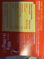 L'Essentiel - Yaourt Mangue - Informations nutritionnelles - fr